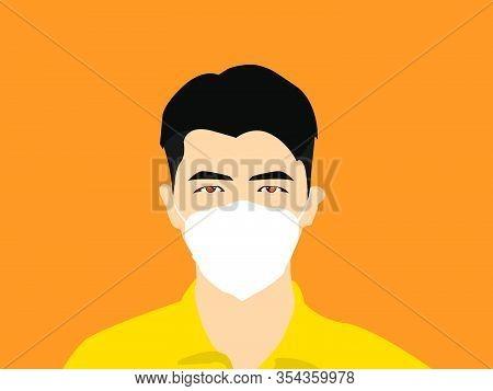 Man Wearing Masker Illustration Vector