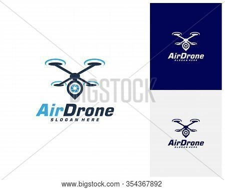Drone Logo Design Template. Photography Drone Icon Vector. Creative Design. Illustration