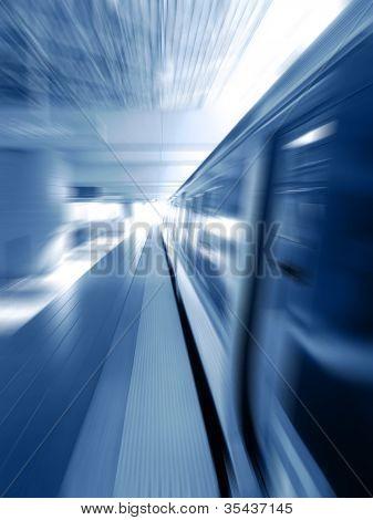 Subway Train Background