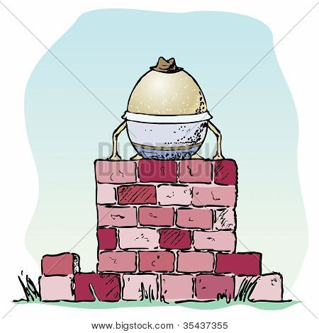 Egg On A Wall
