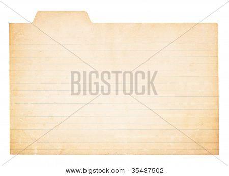 Vintage Tabbed Index Card