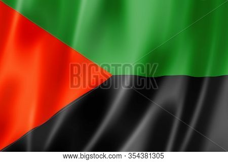 Martinique Independence Flag, Overseas Territories Of France. 3d Illustration