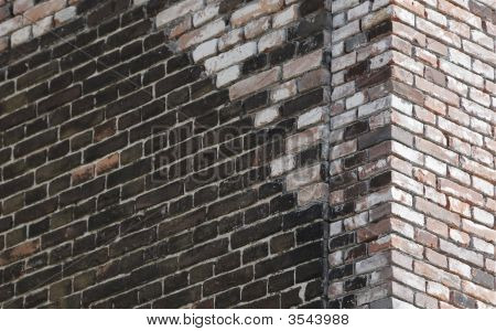 Abstract background with corner of brick house poster