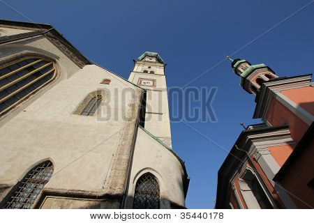 Church St, Nikolaus, Hall in Tirol, Austria