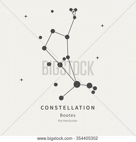 The Constellation Of Bootes. The Herdsman - Linear Icon. Vector Illustration Of The Concept Of Astro