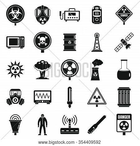 Radiation Hazard Icons Set. Simple Set Of Radiation Hazard Vector Icons For Web Design On White Back