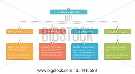 Flow Chart With 3 Levels, Infographic Template With 3 Steps Or Options, Vector Eps10 Illustration