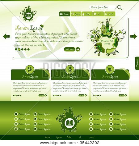 Green Eco Website Template