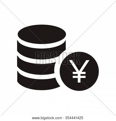Yen Sign Icon, Yen Vector Illustration For Graphic And Web Design.