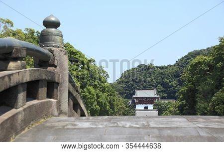 Historic Temple And Garden In Kamakura, Japan