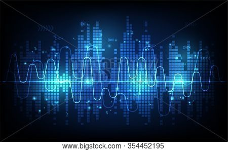 Sound Wave Rhythm Background, Technology Concept, Futuristic Digital Innovation Background Vector Il
