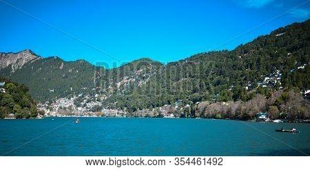 Nainital Lake, A Natural Freshwater Body, Situated Amidst The Township Of Nainital In Uttarakhand St