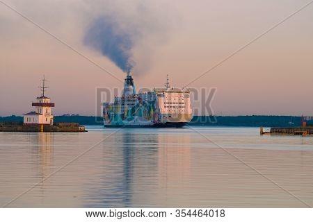 Saint Petersburg, Russia -june 03, 2019: Cruise Ferry