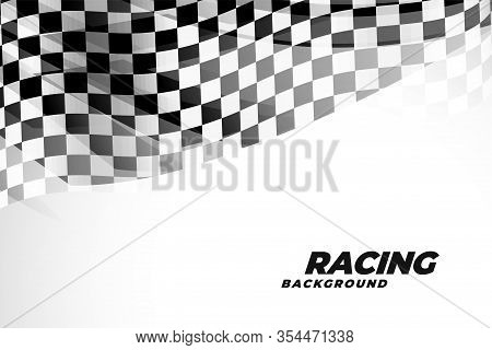 Checkred Flad Background For Sports And Racing Vector Design Illustration