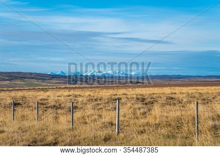 Snaefellsness National Park In Iceland Scenic Landscape In Front Of Snow Covered Mountains