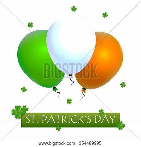 Balloons For St Patricks Day, Vector Art Illustration.