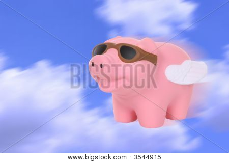 A humorous metaphor signaling when pigs fly poster