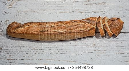The Famous Traditional And Authentic Artisan French Bread, Soft, Crispy And Crunchy. Also Called Rus