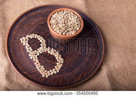 Foods Containing Vitamin B. Plate Of Lentils Illustrates The Presence Of Vitamin B.