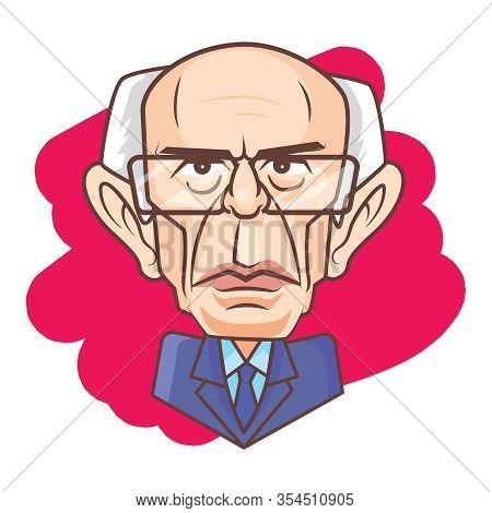 Washington, Usa, March 6 2020, Bernie Sanders Vector Caricature