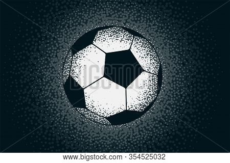 Creative Football Design Made With Stipple Dots