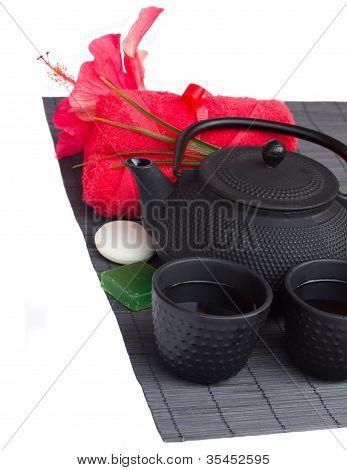 asian tea  and spa set