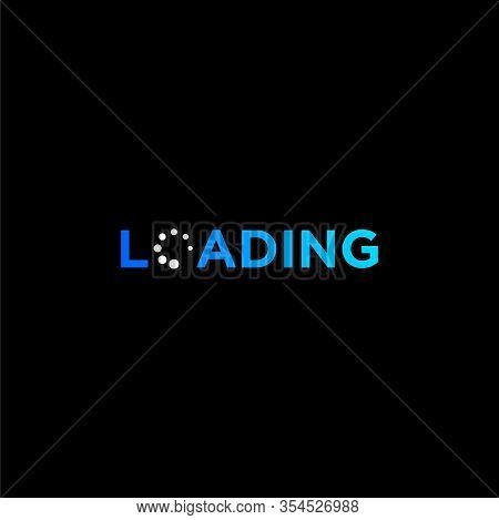Creative Wordmark Logo Design Of Loading With Dark Background - Eps10 - Vector.