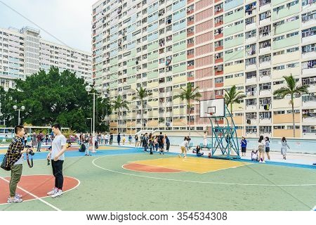 Hong Kong, China - March 17, 2019: View Of Choi Hung Estate. It Is One Of The Oldest Public Housing