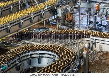 Brisbane, Australia - December 8, 2009: Castlemaine Perkins Brewery. 4 Fully Loaded Gray Metal Trans