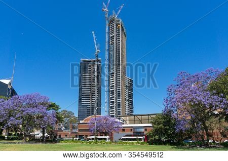 Sydney, Australia - November 12, 2016: Construction Of Altitude By Meriton Condominium Complex In Pa