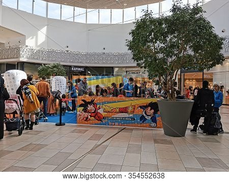 Bordeaux, France, March 07, 2020 : Bandai Organizes Animations In Shopping Center Auchan Lac, With D