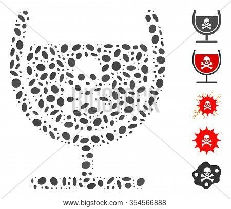 Dotted Mosaic Based On Poison Glass. Mosaic Vector Poison Glass Is Designed With Randomized Oval Spo