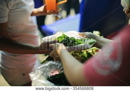 Concept Of Begging Food : Share Food Helping Homeless People In Society On Earth: The Concept Of Hun