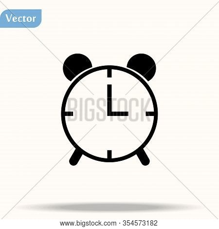 Clock Icon In Trendy Flat Style Isolated On Background. Clock Icon Page Symbol For Your Web Site Des
