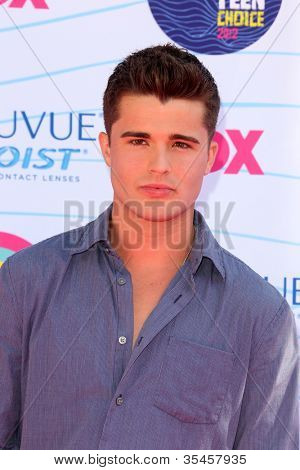 LOS ANGELES - JUL 22:  Spencer Boldman arriving at the 2012 Teen Choice Awards at Gibson Ampitheatre on July 22, 2012 in Los Angeles, CA