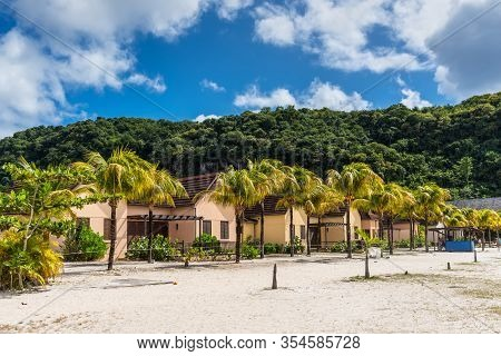 Buccament Bay, St Vincent And The Grenadines - December 19, 2018: View Of The Buccament Bay Resort I