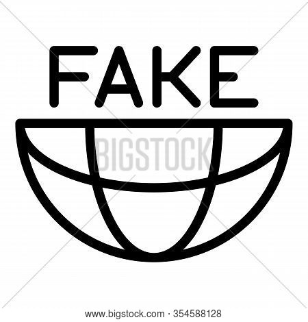Democratic Fake News Icon. Outline Democratic Fake News Vector Icon For Web Design Isolated On White