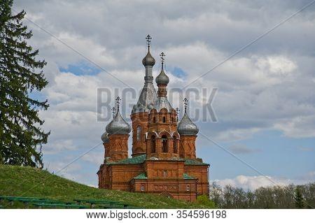 Tver Region, Volga, Russia - May 9, 2014: Volgoverkhovye Olginsky Convent Church Transfiguration In