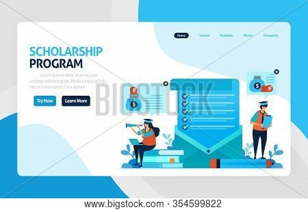 Landing Page For Scholarship Education Program, Open Donations And Funding For Outstanding Student,