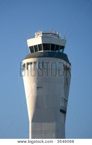 Seatac Airport Control Tower Between Seattle And Tacoma