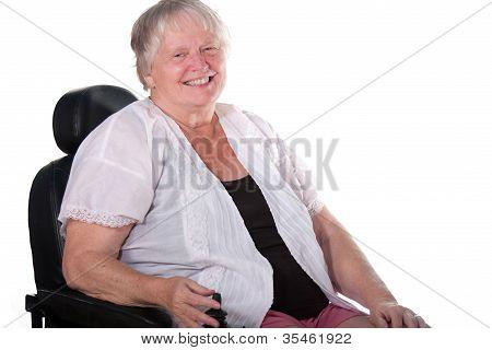 Senior Woman In Wheel Chair