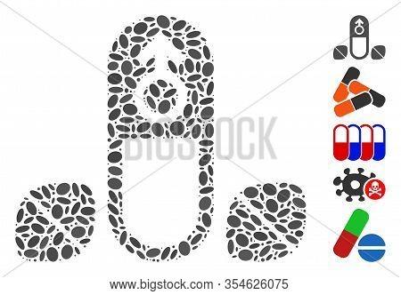 Dot Mosaic Based On Penis Potency Tablets. Mosaic Vector Penis Potency Tablets Is Composed With Rand