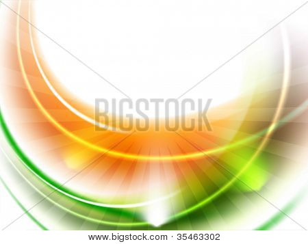 Shiny Indian Flag wave background. EPS 10.