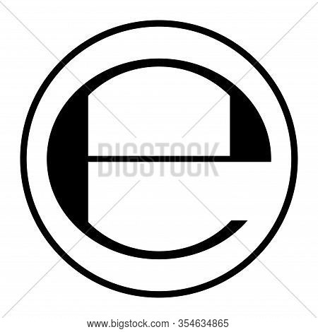 Estimated Sign Isolated On White Background. Label Mark Vector Illustration