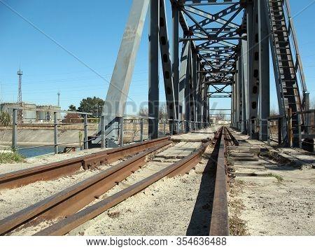 Old Railway Bridge Leading From The Chernobyl Nuclear Power Plant, Chernobyl, Pripyat, Ukraine