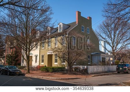 Burlington, New Jersey - March 4: Beautiful Historic Homes As Seen On March 4 2020 In Burlington New