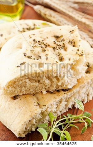focaccia with fresh herbs