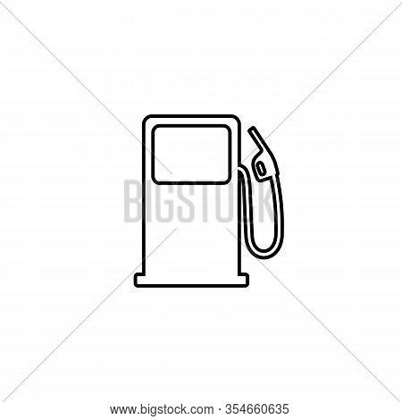 Fuel Refill Symbol Line Icon. Vector Illustration