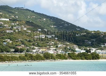 The Residential District Of Charlotte Amalie Town On St. Thomas Island (u.s. Virgin Islands).
