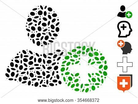 Dot Mosaic Based On Add User. Mosaic Vector Add User Is Designed With Randomized Oval Elements. Bonu